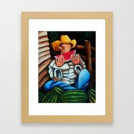 Guajiro with melons. Miguez art Framed Art Print