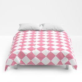 Diamonds - White and Flamingo Pink Comforters