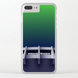 I want to believe - brutalism and UFOs Clear iPhone Case