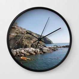 Riomaggiore's Waters. Wall Clock