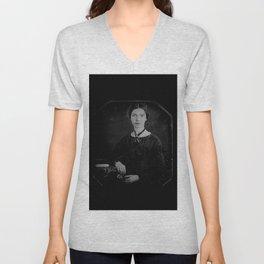 Portrait of Emiliy dickinson Unisex V-Neck