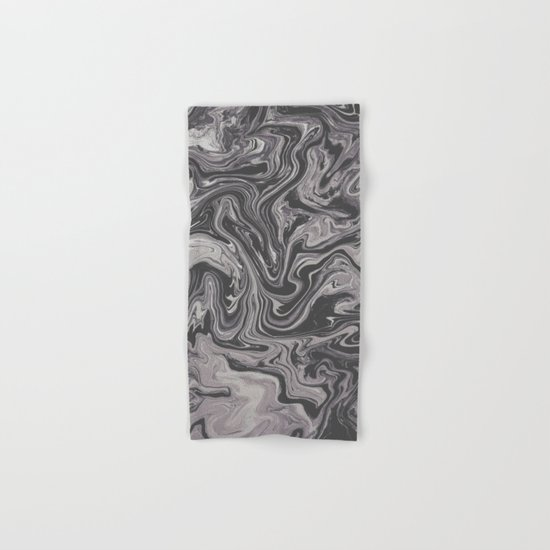 Black and Gray - Little Swirl Hand & Bath Towel