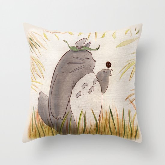 Silent Guardian Throw Pillow