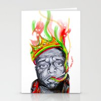 biggie smalls Stationery Cards featuring Biggie Smalls by Liam Reading