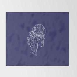 Tattoo medusa Throw Blanket