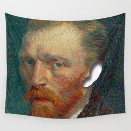 Van Gogh has no ear Wall Tapestry