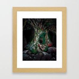 night forest Framed Art Print