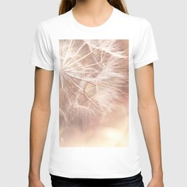 Pink Macro (2) Dandelion Flower - Floral Nature Photography Art and Accessories T-shirt