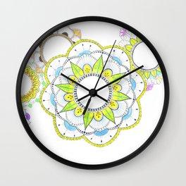 Mandala with floral patterns Wall Clock