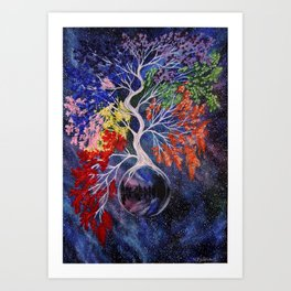 Chackra Tree. Art Print