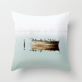 Resting On A Boat Throw Pillow