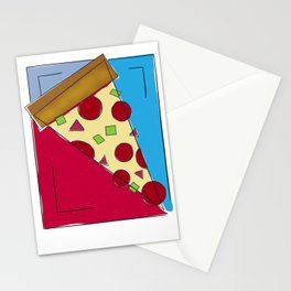 Geometric Pizza Stationery Cards