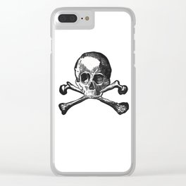 Skull and bones 2 Clear iPhone Case