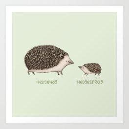Hedgehog Hedgesprog Kunstdrucke