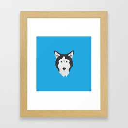 Lance Bright Blue Framed Art Print