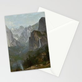 Indians at Campfire, Yosemite Valley, California Stationery Cards