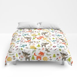 Cute Woodland Creatures Pattern Comforters