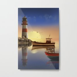 Morning at the lighthouse Metal Print