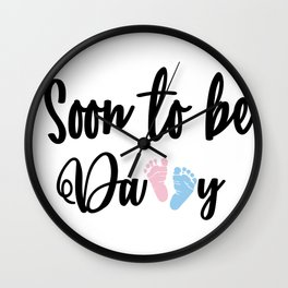 Soon To Be Mommy and Soon To Be Daddy Wall Clock