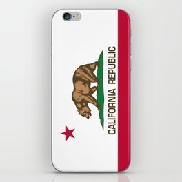 California Republic Flag - Bear Flag iPhone Skin