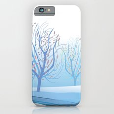 Winter Scene with Barren Trees and Stream iPhone 6s Slim Case