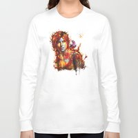 megan lara Long Sleeve T-shirts featuring Lara Croft by ururuty