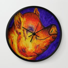 Pig, Happy Wall Clock