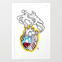 MECH HEART Art Print