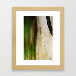 Forest, Water, Lines Framed Art Print