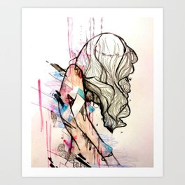 Collapsing Structures Art Print