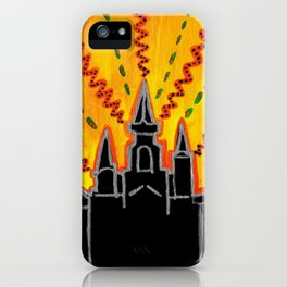 """Sunrise over Jackson Square New Orleans Hand Painted Cityscape 8""""x10"""" Acrylic iPhone Case"""