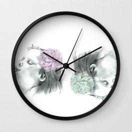 Spring wind Wall Clock