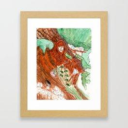 Series 1.1: Wooden Goddess  Framed Art Print