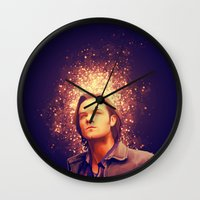 sam winchester Wall Clocks featuring Sam Winchester - Supernatural by KanaHyde