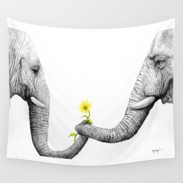 """Up Close You Are More Wrinkly Than I Remembered"" Wall Tapestry"
