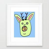 jack daniels Framed Art Prints featuring Jack by BubbleTeeth