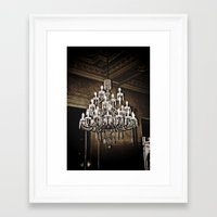 chandelier Framed Art Prints featuring chandelier  by Ammar ZABOUN