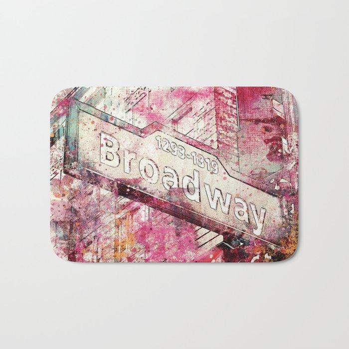 Broadway sign New York City Bath Mat