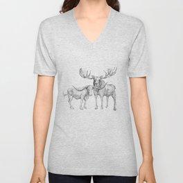 Longhorn and Moose Unisex V-Neck