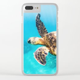 Sea Turtle In Maui Clear iPhone Case