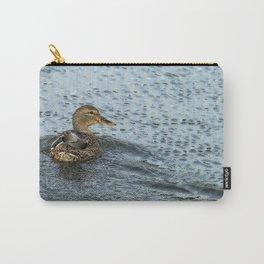 Mallard in the Rain Carry-All Pouch