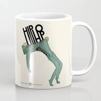 hip hop Mugs featuring Hip-Hop by Mariana Baldaia