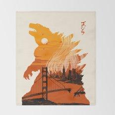 Godzilla  Throw Blanket