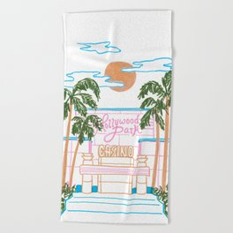 Hollywood Park Casino Beach Towel