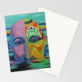 Face as Canvas Stationery Cards