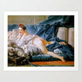 "François Boucher ""Brown Odalisque (L'Odalisque Brune)"" (1745) Art Print"
