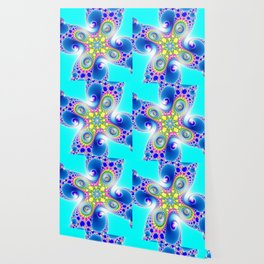 """""""Chaos Of Light"""" Spiral Fractal Art Print Wallpaper"""