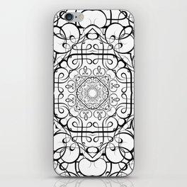 BLACK AND WHITE ORNAMENT iPhone Skin