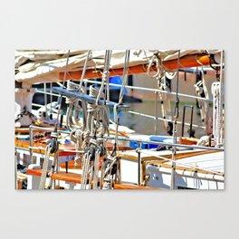 Ships Rigging Canvas Print