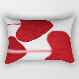 christmas decoration and valentine heart shape Rectangular Pillow